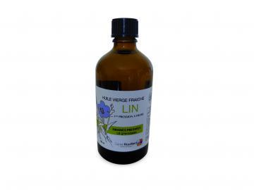 Flacon d'huile vierge de lin 100 ml